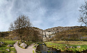 Walking Pyrography Prints - Malham Cove Print by Karl Wilson