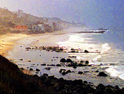 Malibu Beach Prints - Malibu Beach Houses Print by Ron Regalado