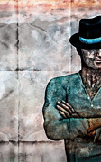 Mysterious Digital Art Prints - Man In The Hat Print by Bob Orsillo