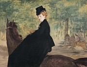 Portrait Of Woman Photo Framed Prints - Manet, Édouard 1832-1883. Portrait Framed Print by Everett