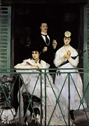 Morisot Photos - Manet, Édouard 1832-1883. The Balcony by Everett