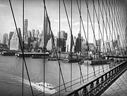 Vintage River Scenes Photos - Manhattan Skyline by Underwood Archives
