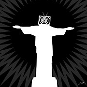 Mass Manipulation Prints - Manipulated - Cristo Redentor Print by Jean-Jacques Morello