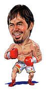 Pacman Painting Prints - Manny Pacquiao Print by Art