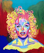 Jfk Paintings - Marilyn  by Janice Westfall