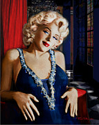 Monroe Framed Prints - Marilyn Monroe 126 d 2 Framed Print by Theo Danella