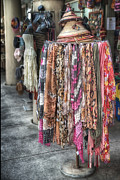 Brenda Bryant Photography Photo Prints - Market Scarves Print by Brenda Bryant