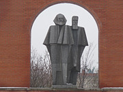 Marxism Framed Prints - Marx and Engels Framed Print by Deborah Smolinske