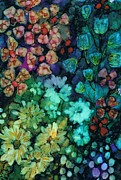 Alcohol Ink Prints - Marys Garden Print by Christine Crawford