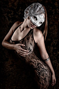 Curvaceous Posters - Mask and Lace Poster by Jt PhotoDesign