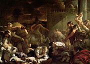Luca Framed Prints - Massacre of the Innocents Framed Print by Luca Giordano