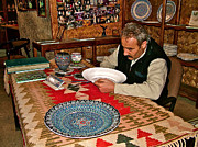 Painter At Work Posters - Master Pottery Painter in Avanos-Turkey Poster by Ruth Hager