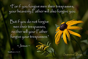 Forgiveness Prints - Matthew 6 14-15 Forgiveness Print by Inspirational  Designs