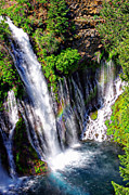 Rainbow Metal Prints - McArthur Burney Falls Rainbow Metal Print by Scott McGuire