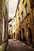 Middle Ages Metal Prints - Medieval street in Perigueux Metal Print by Elena Elisseeva
