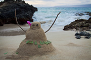 Hawaiian Style Art - Mele Kalikimaka Merry Christmas from Paako Beach Maui Hawaii by Sharon Mau