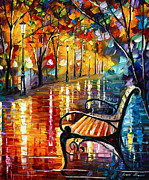 Leonid Afremov Art - Memories... small version by Leonid Afremov