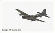 Ww Ii Framed Prints - Memphis Belle II Framed Print by aGeekonaBike