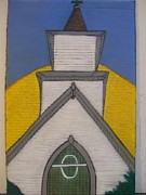 Revolutionary Pastels - Menominee Church by Jonathon Hansen