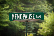 Information Age Photo Posters - Menopause Lane Sign Poster by Sue Smith