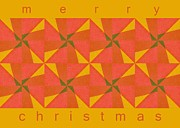 Seasonal Greeting Cards Posters - Merry Christmas Poster by Michelle Calkins