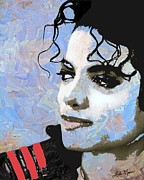 Michael Jackson Metal Prints - Michael Jackson Metal Print by Linda Mears