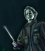 Michael Metal Prints - Michael Myers Metal Print by Vinny John Usuriello