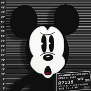 Arrest Art - Mickey Mouse Disney Mug Shot by Tony Rubino