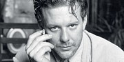 Actress Digital Art Framed Prints - Mickey Rourke Framed Print by Sanely Great