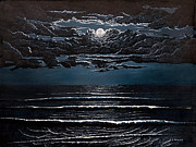 Isle Of Palms Paintings - Midnight Surf by Jeff McJunkin