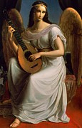 Lute Metal Prints - Mignon Metal Print by Wilhelm Schadow