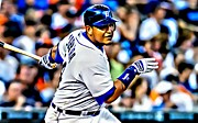First Baseman Framed Prints - Miguel Cabrera Painting Framed Print by Florian Rodarte