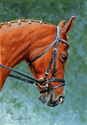 Show Horse Paintings - Mikey by Richard De Wolfe