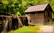 Grist Mill Art - Mingus Mill by Karen Wiles