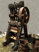 Gold Mining Posters - Mining Portable Stamp Mill Poster by Daniel Hagerman