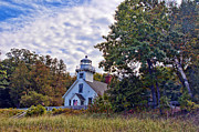 Navigation Digital Art Originals - Mission Point Lighthouse by Brian Lambert