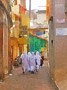 Poor People Digital Art Prints - Missionaries of Charity Print by Digital Photographic Arts