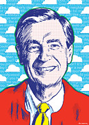 Illustration Digital Art Prints - Mister Rogers Print by Jim Zahniser