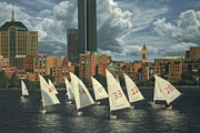 Charles River Painting Posters - MIT Sailors Poster by OMalley Keyes
