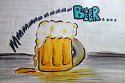 German Ale Drawings - Mmmmm Beer by Jacqueline Athmann