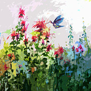Ginette Callaway - Modern Hummingbird and bee Balm