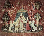 Tapestries Textiles Prints - Mon Seul Desir To My Only Desire. 1490 Print by Everett