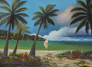 Caribbean Sea Painting Metal Prints - Montego Bay Metal Print by Gordon Beck