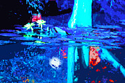 Lily Pond Originals - Moonlight and Lilies by John Lautermilch