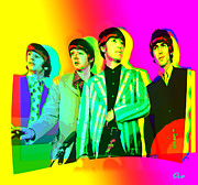 Fab Four Framed Prints - Moptops pOp 68 Framed Print by Olaf Del Gaizo