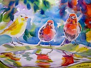 Therese Fowler-bailey Art - Morning Chat by Therese Fowler-Bailey