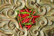 Moroccan Photos - Moroccan Hot Chili Peppers by Suzanne Powers