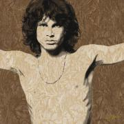 Jim Morrison Framed Prints - Morrison Cross Framed Print by Dancin Artworks