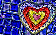 Mosaic Mixed Media - Mosaic Heart By Diana Sainz by Diana Sainz