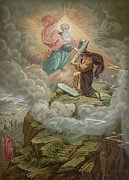 Swirling Clouds Posters - Moses Receives the Tablets of Poster by French School